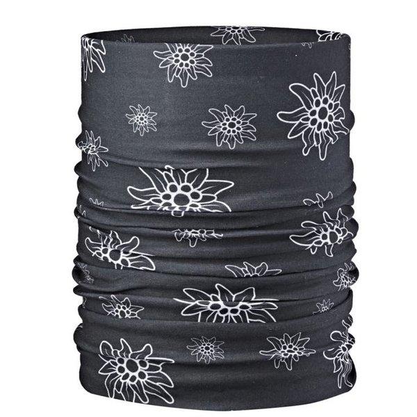 ARECO - Multifunktions-Halstuch BASIC Schal - Edelweiss schwarz