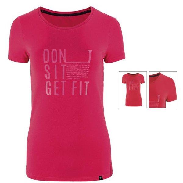 Message Get Fit Tee - Damen Shirt Outhorn - pink