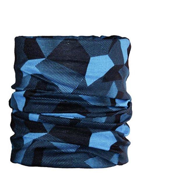 ARECO - Multifunktions-Halstuch Neckwarmer Schal Mütze Sturmhaube - warm - blau