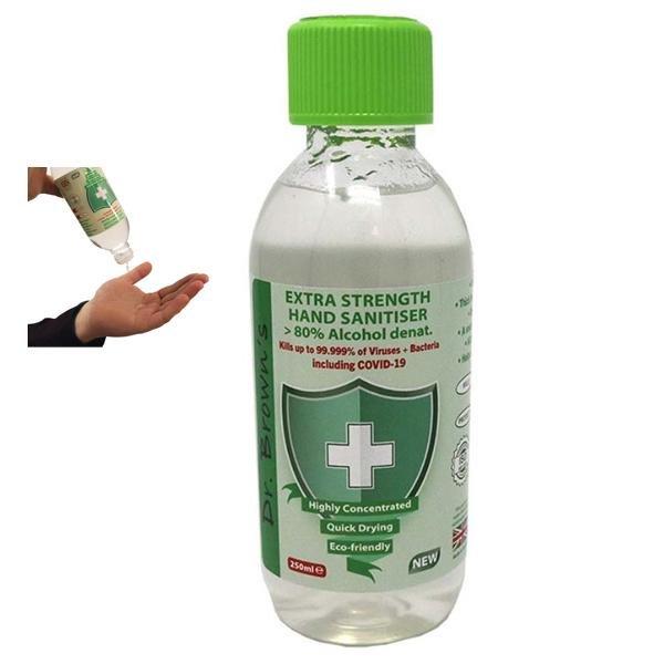 Dr. Browns - 250ml große Hand Desinfektionsmittel HANDREINIGUNGSGEL