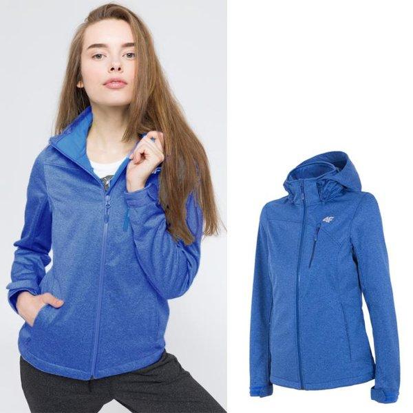 4F - NeoDry 5.000 - Damen Softshelljacke - blau melange