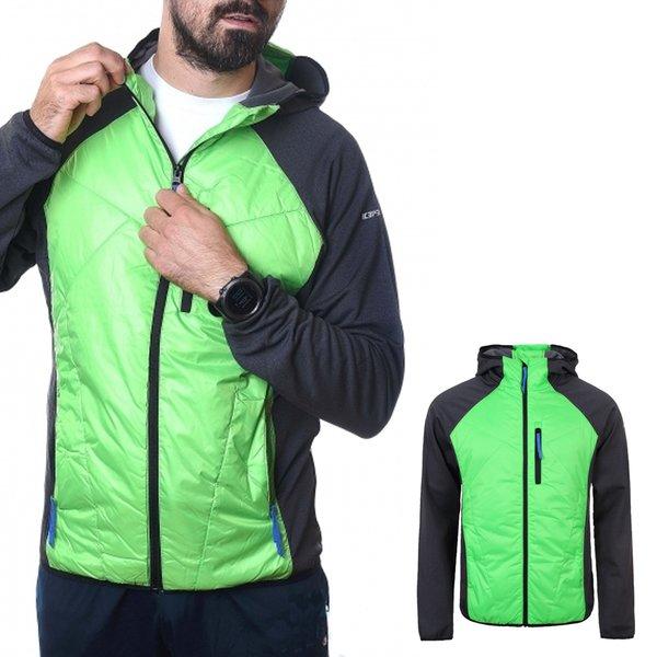 Icepeak - Bernie - Herren Hybrid Sportjacke - grau grün