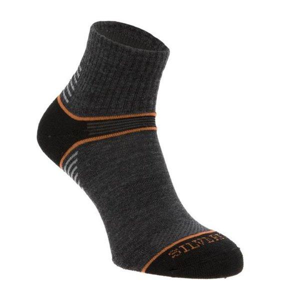 Silverpoint - On The Move Ankle Sock - Merino Socken - grau orange