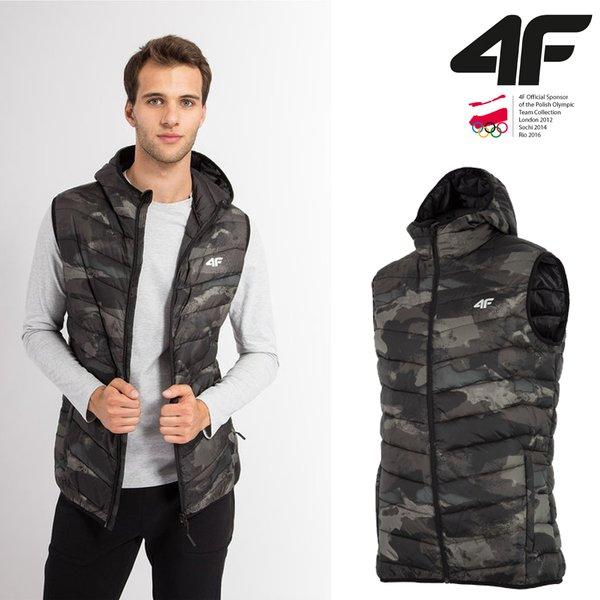 4F - Thermofunktion Weste - Herren Steppweste - tarnfarben S