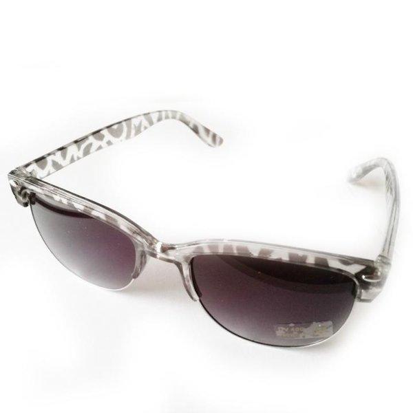 PIPEL - Sonnenbrille DESIGN - Gläser UV 400 - schwarz transparent