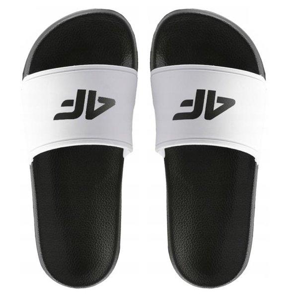 4F - Pool Slippers - Badeschuhe - weiß/schwarz