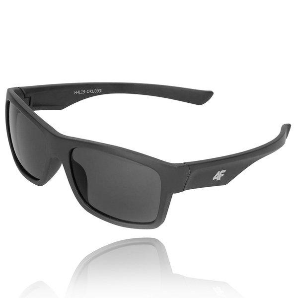 4F - Sonnenbrille DESIGN - REVO Gläser UV 400 - dark black