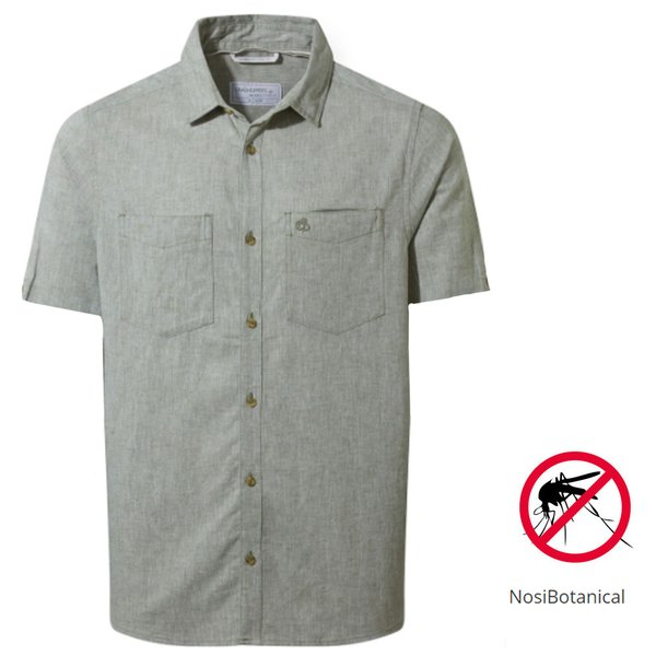 Craghoppers - NB Villar SS Shirt Herren Nosibotanical Hemd, grün