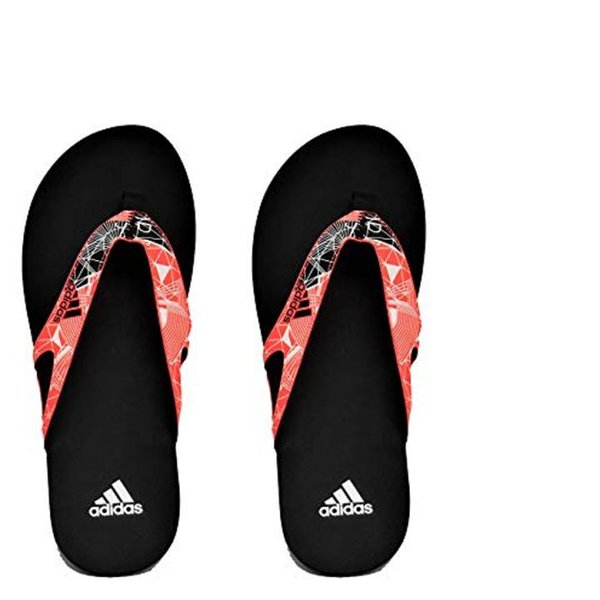 adidas Herren 5 M Sandalen Flipflops - schwarz rot - EU 47 UK 12