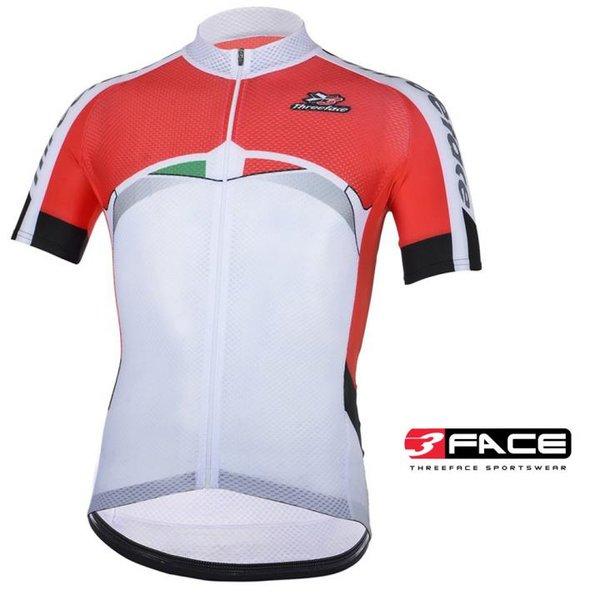 3Face - hochwertiges Kurzarmtrikot SAINT- für die heiße Jahreszeit - 3 Trikotrückentaschen- Made in