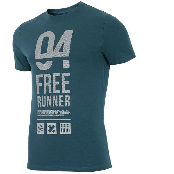 4F - FREE RUNNER - Herren T-Shirt - Reflektierend teal