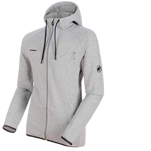 2019 original neuesten Stil von 2019 Turnschuhe 2018 Mammut Herren Midlayer-Jacke Logo Mit Kapuze - Fleecejacke - grau S