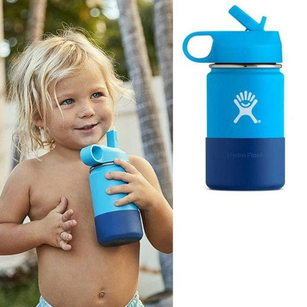 Hydro Flask - Wide Mouth - Kinder Trinkflasche - blau 354ml