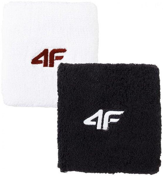 4F- Schweißband WRISTBAND - schwarz und weiß