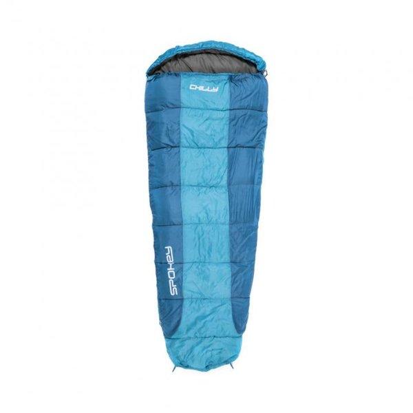 Spokey - CHILLY II Schlafsack 200 g/m2 Hollowfibre - 2,1m - blau