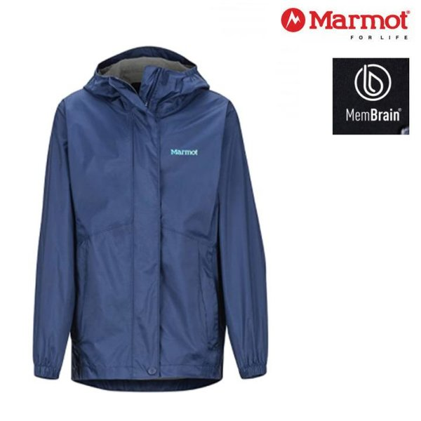 Marmot - Kinder Precip Eco - Outdoorjacke Regenjacke, navy