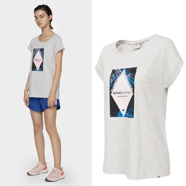 4F- ActiveSummer - Damen T-Shirt - grau
