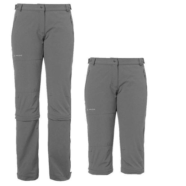 Vaude Damen Farley Stretch Capri T-Zip Ii Hose Wanderhose - grau - 48 2XL/3XL
