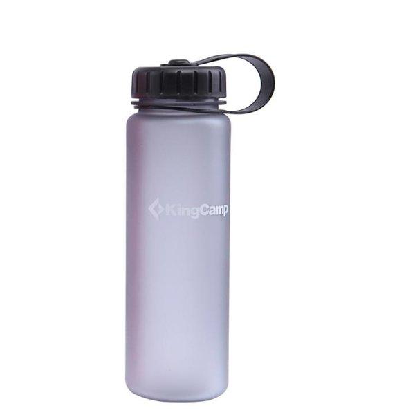 King Camp - Trinkflasche mit Skala - grau halbtransparent 0,4 Liter