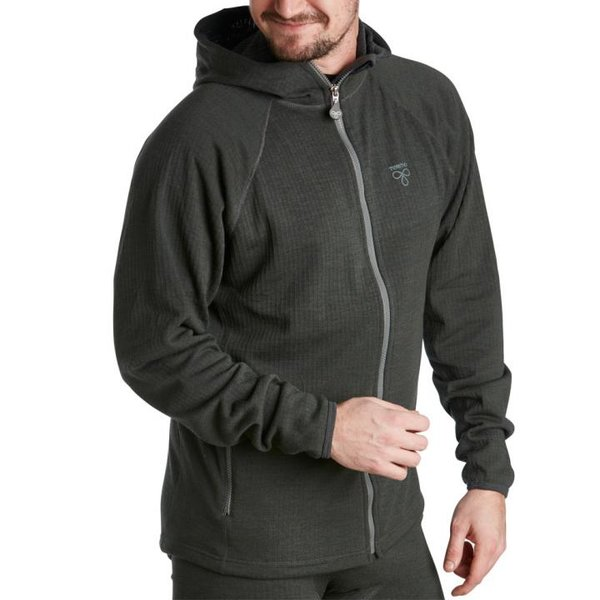 TERMO - Wool Original 2.0 - HOODIE Full Zip - dicke Merino Herren Zip-Jacke Pullover - grau