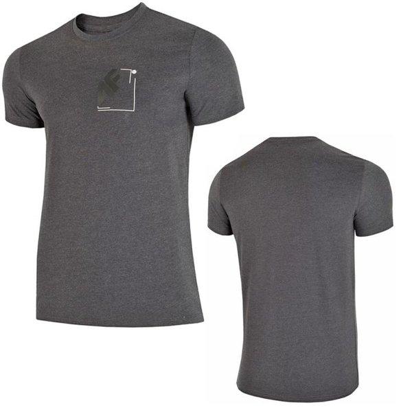 4F - Logo No04 - Herren T-Shirt - dunkelgrau
