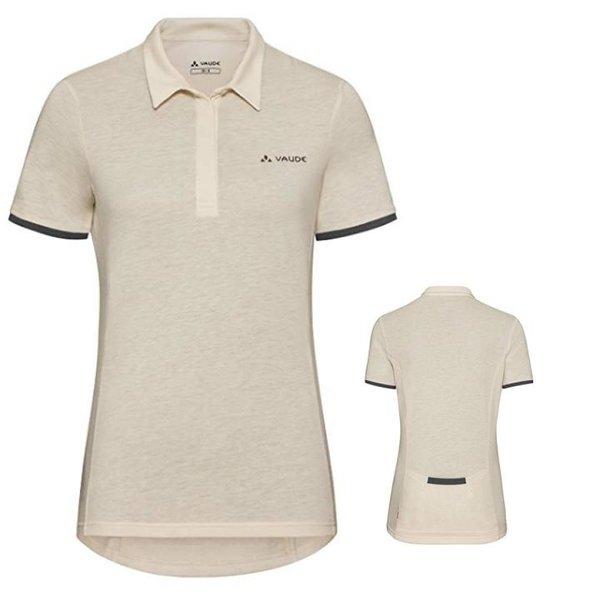 Vaude Damen Radshirt Poloshirt Shirt - ecru - 38 S/M