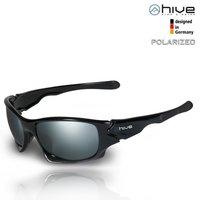 hive - polarisierte Sonnenbrille verspiegelt - UV400 - Kat. 3 - Black Version + P