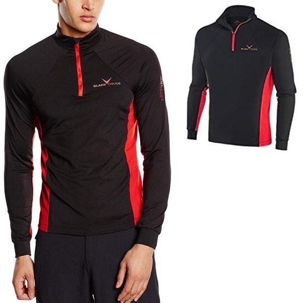 Black Crevice - Heren Skirolli - Langarmshirt - schwarz rot