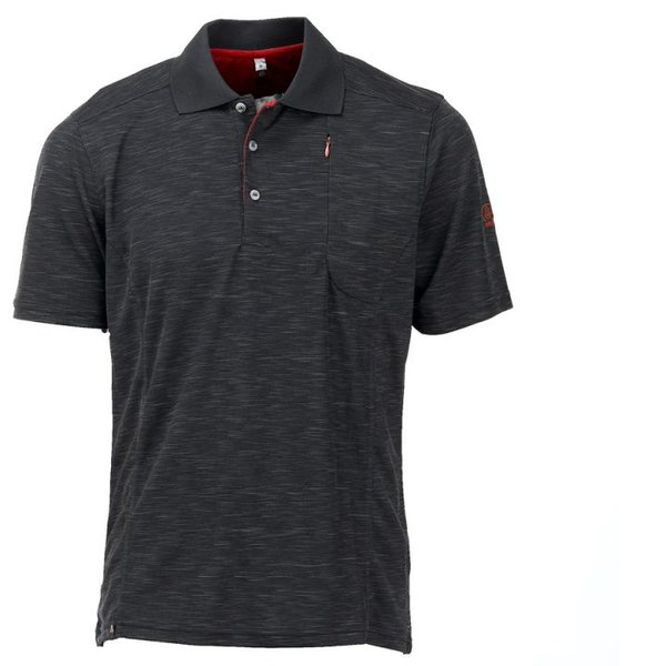 Maul - Gaigerkopf 2019 - Herren Funktions Polo-Shirt - schwarz melange