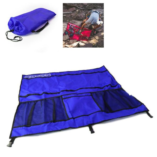 RACKSTER - Klettertasche - platzsparend verstaut und optimal organisiert - blau