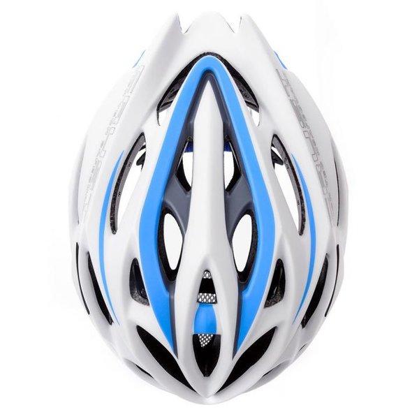 CRUST - Fahrradhelm - IN-MOULD Fahrrad Helm EN1078 - weiß blau