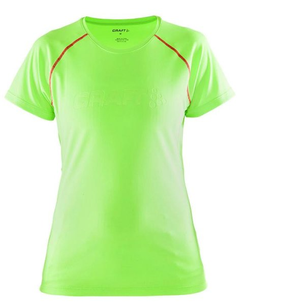 Craft - Frauen Prime Craft SS TEE W Sportshirt - neongrün
