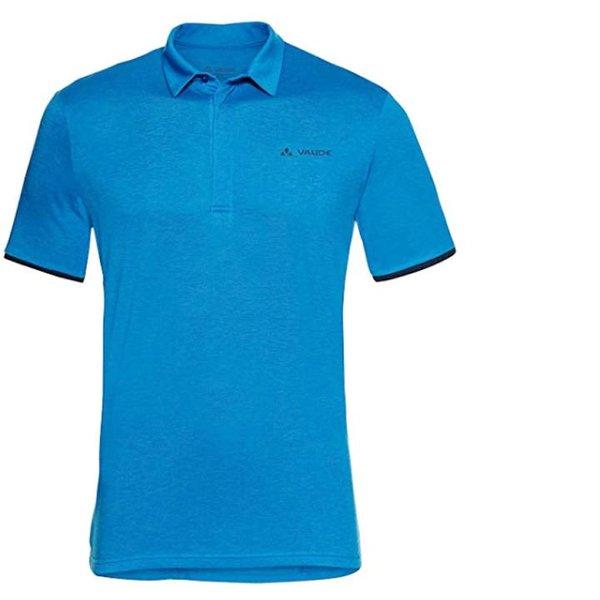 Vaude Herren Merino Polo Shirt Wandershirt - blau - 58 XXXL