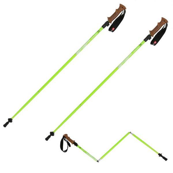 N-rit - faltbare ALU Stöcke - Wanderstöcke Teleskopstöcke faltbar - Korkgriff und Außenklemmung