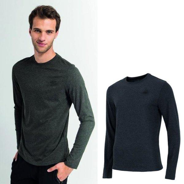 4F - Langarmshirt - Herren Sportshirt - dunkelgrau