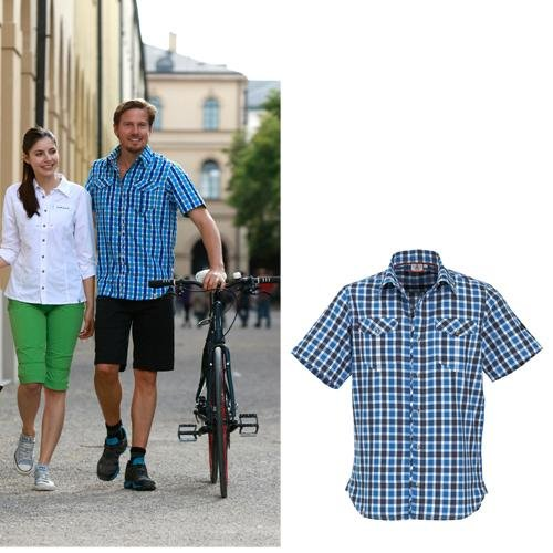 Maul - Tranby - Herren Kurzarmhemd - blau/dunkelblau