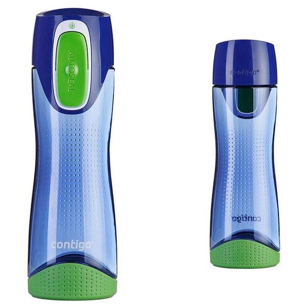 Contigo Trinkflasche Swish Sport Fitness Flasche - 500ml - blau