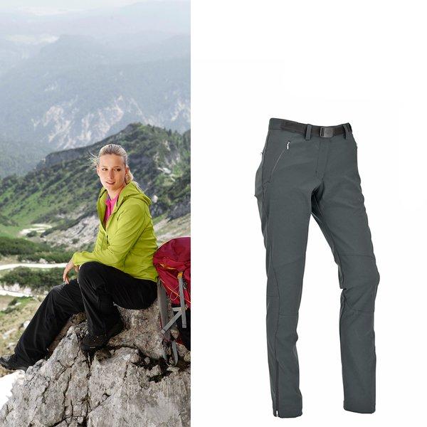 Maul - Peak Perle - Damen Softshellhose - grau
