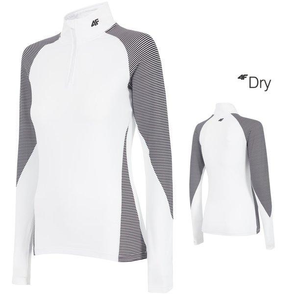 Luxus Marken Skiunterwäsche Funktionslongshirt 4F - weiß