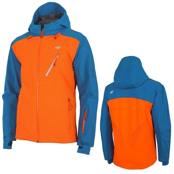 4F - Dermizax® 20 000- Herren Primaloft Skijacke neonorange/blau
