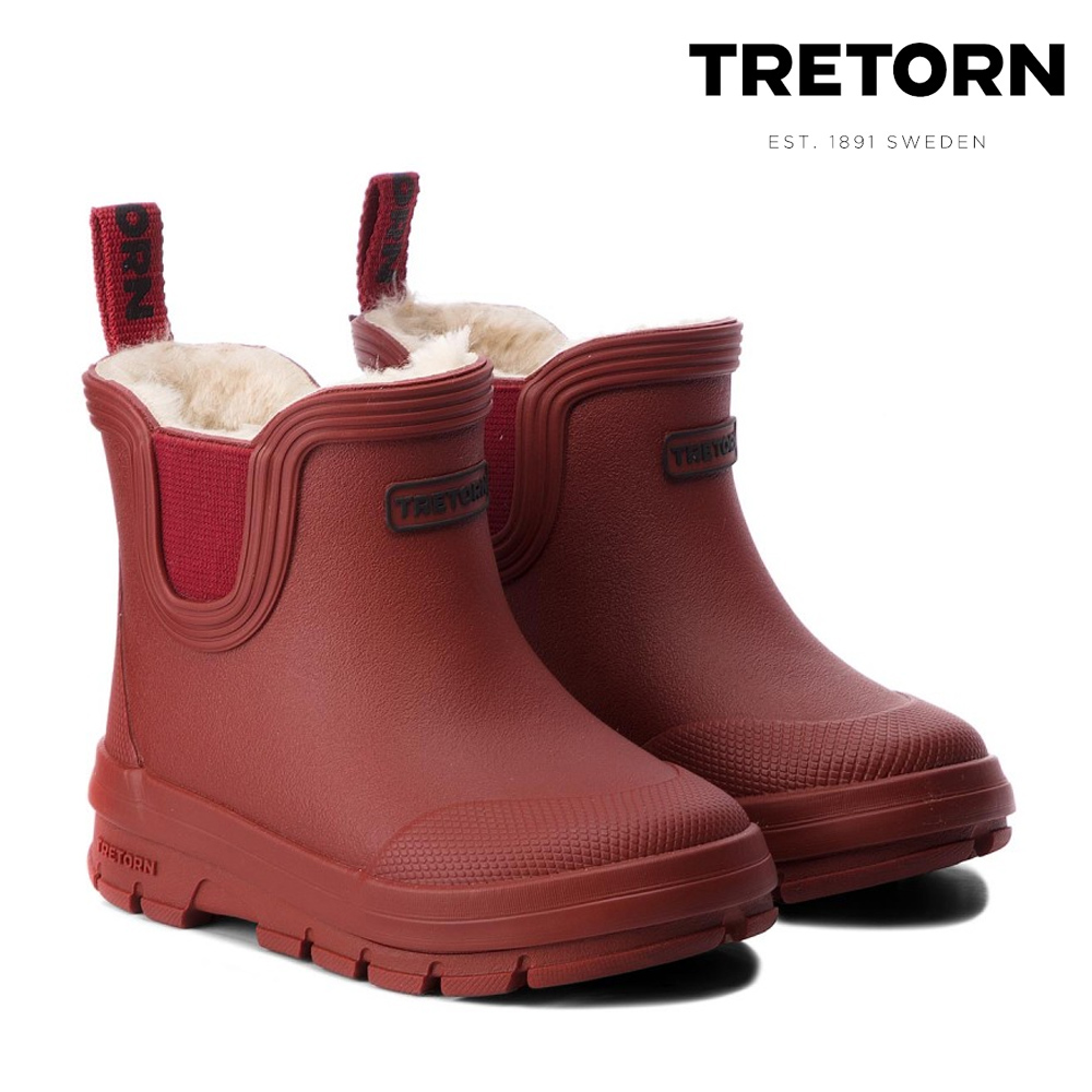 low priced a04b5 1044b Tretorn - Active Chelsea Winter - Kinder Gummistiefel - dunkelrot 28