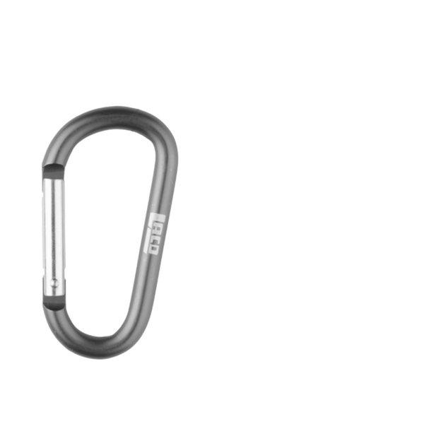 LACD - Zubehörkarabiner aus Aluminium - Schnappverschluss - 5,5 cm, grau