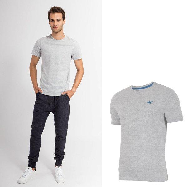 4F - Baumwollshirt - Herren T-Shirt - hellgrau