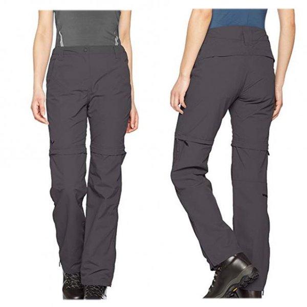 Salewa Damen Fanes Jasay 3 Dry 2/1 Hose Zip-Off, Shorts, grau, 40/L