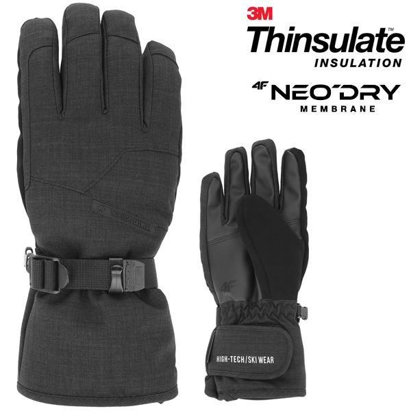 Thinsulate - 4F Marken Skihandschuhe Winterhandschuhe - schwarz