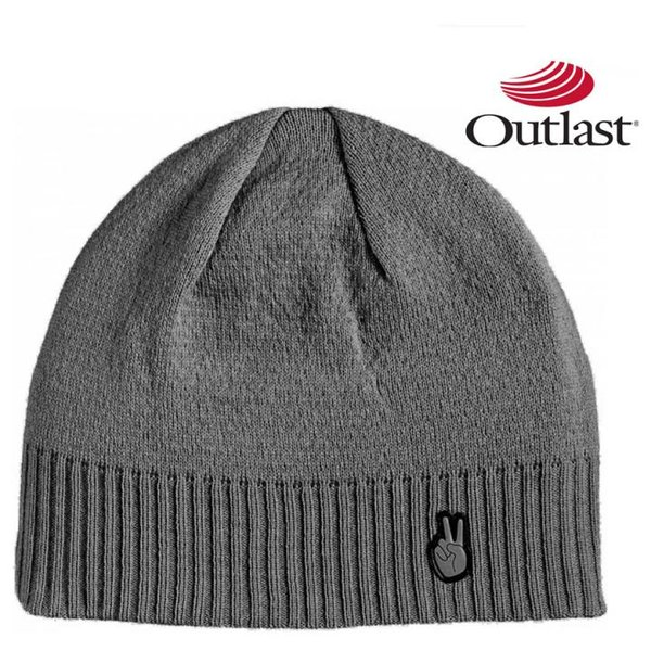Outlast - Vermont Wintermütze Wolle Mütze - grau