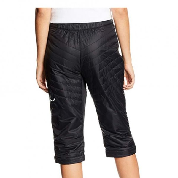 Salewa Damen Sesvenna 3/4 Pant-Primaloft Hose Skihose, schwarz 42 XL