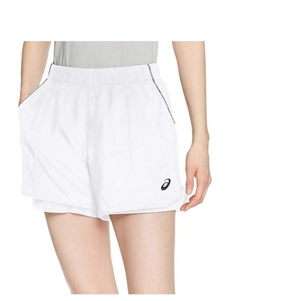 ASICS Damen Team Shorts Sporthose - weiß