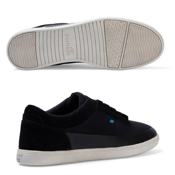 Boxfresh - Troxton Text AM Sneaker Freizeit-Schuhe, schwarz