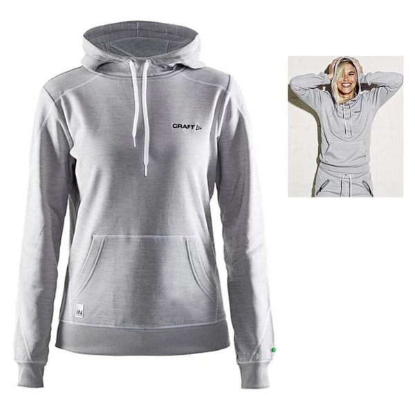 Craft - In-the-Zone Hood W - Damen Hoodie Sportpullover - grau